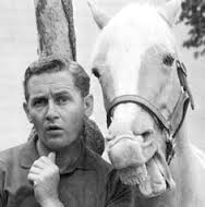 A horse is a horse, of course, of course, And no one can talk to a horse of course That is, of course, unless the horse is the famous Mister Ed.