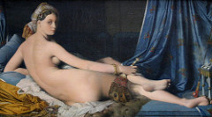 The Grand Odalisque (1814) by Jean Auguste Dominique Ingres