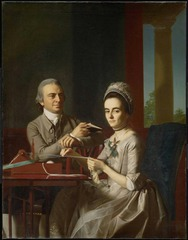 Why was John Singleton Copley's portrait of Mr. and Mrs. Thomas Mifflin unlike typical portraits of the day?